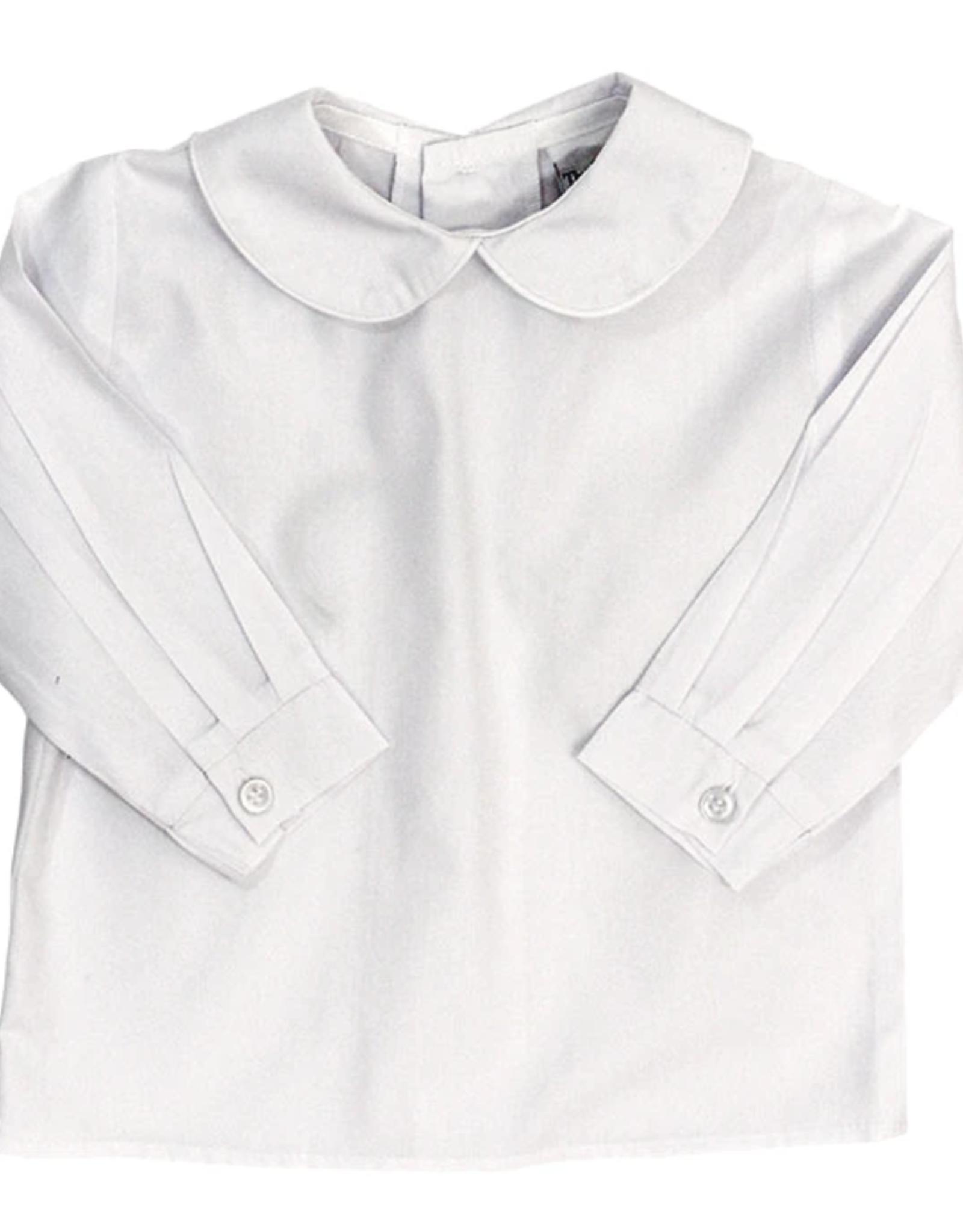 The Bailey Boys White Boys Long Sleeve Shirt Button Back