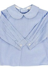 The Bailey Boys Light Blue Check, Boys Piped Shirt
