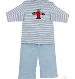 Squiggles Airplane With Stripped Wings Shirt & Pant