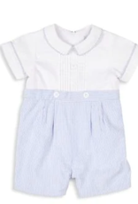 Florence Eiseman Boys Shortall Blue/White Striped