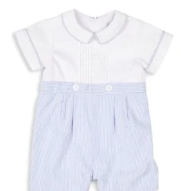 Florence Eiseman Boys Shortall Blue/White Striped
