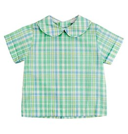The Bailey Boys Seaside Plaid Boys Piped Shirt