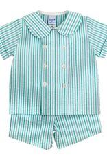 The Bailey Boys Mint Seersucker Dressy Short Set