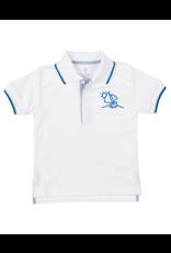 Florence Eiseman Boys Sailboat Polo White/Blue