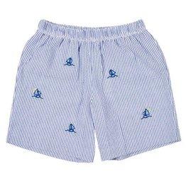 Doe a Dear Boys Sailboat Shorts Blue/White