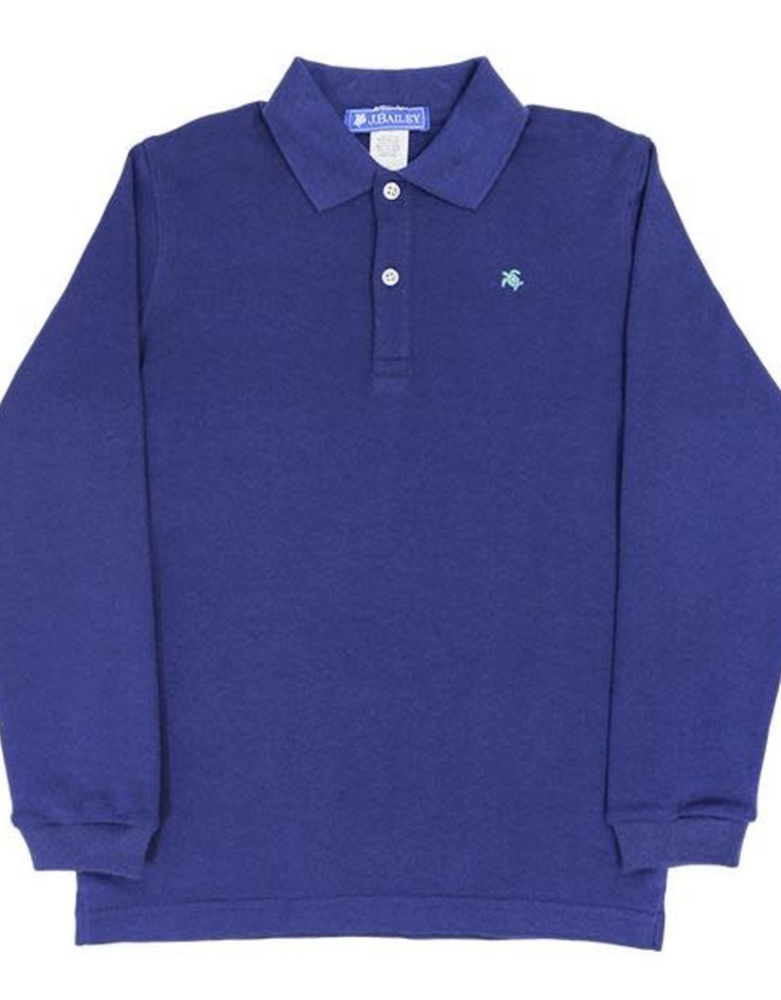 The Bailey Boys Long Sleeve Navy Polo Shirt