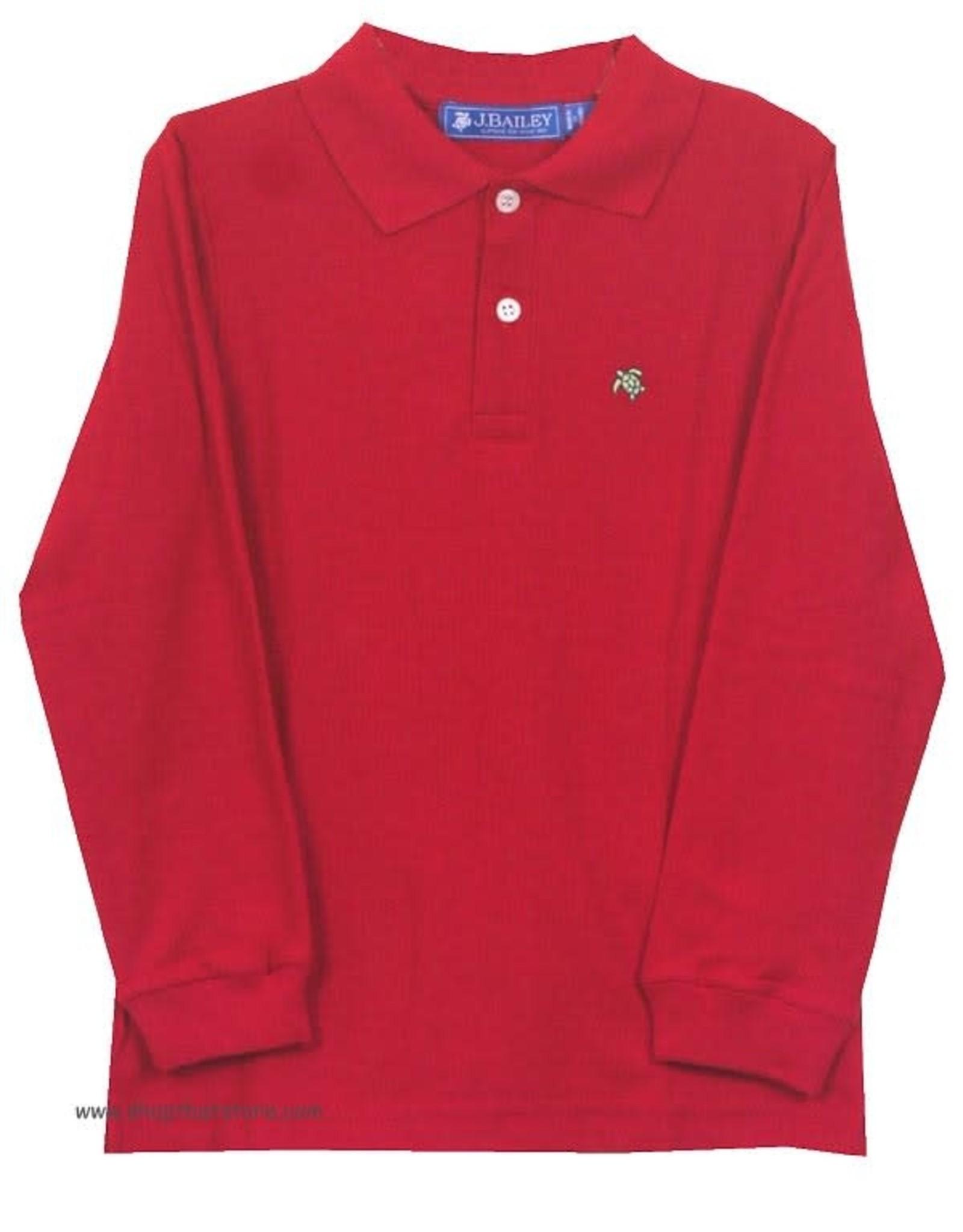 The Bailey Boys Long Sleeve Red Polo Shirt