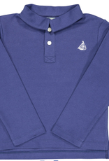 Classic prep Henry Long Sleeve Polo Shirt Navy