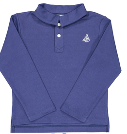 Classic prep Henry Long Sleeve Polo Shirt Navy