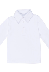 Lila and Hayes Long Sleeve Golf Polo White