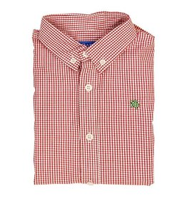 The Bailey Boys Button Down, Red Windowpane Shirt