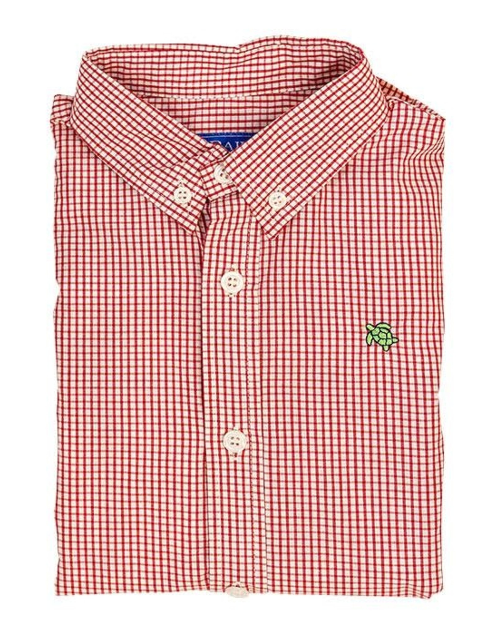 The Bailey Boys Button Down, Red Windowpane Shirt