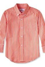 Classic prep Owen Buttondown Shirt Pumpkin Gingham