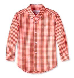 Classic prep Owen Buttondown Shirt Pumpkin Gingham