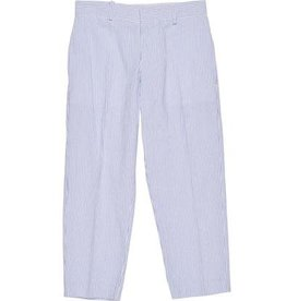 Florence Eiseman Blue and White Striped Seersucker Pants