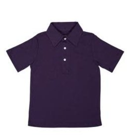 Lila and Hayes Short Sleeve Golf Polo Purple