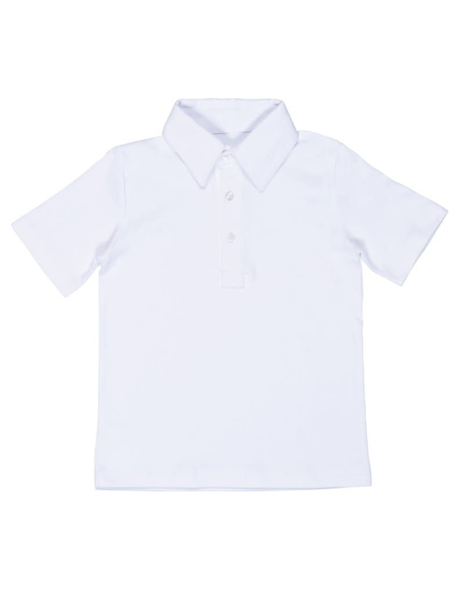 Lila and Hayes Short Sleeve Golf Polo White