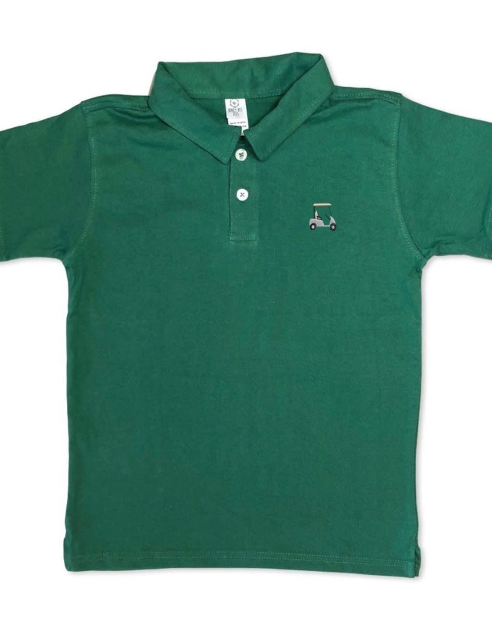 Honey Bee Tees Golf Cart Polo Green