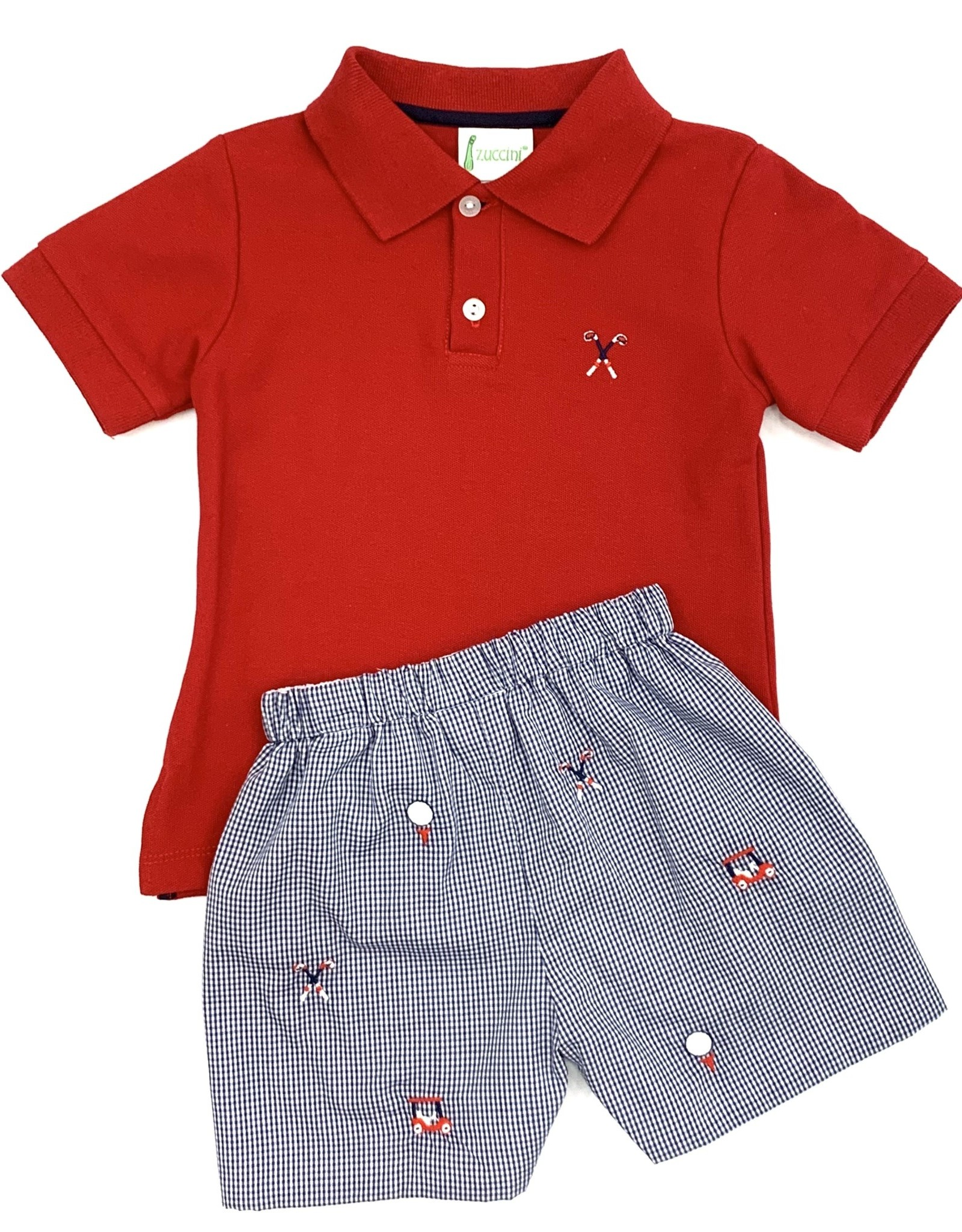 Zuccini Embroidery Golf Polo and Short Set