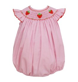 Petit Bebe Strawberries Angel Wing Bishop Bubble Bubblegum Pink