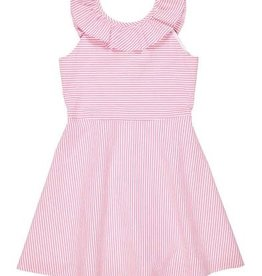 Florence Eiseman Seersucker Pink/White Striped Dress