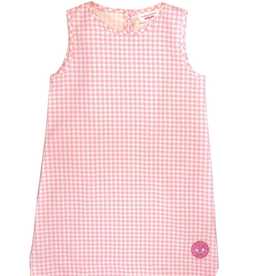 Smiling Button Pink Houndstooth Tuni