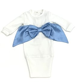 Imagewear LLC Blue Bow Infant Sac