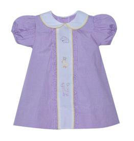 Baby Sen Lavender Parade Animals Dress