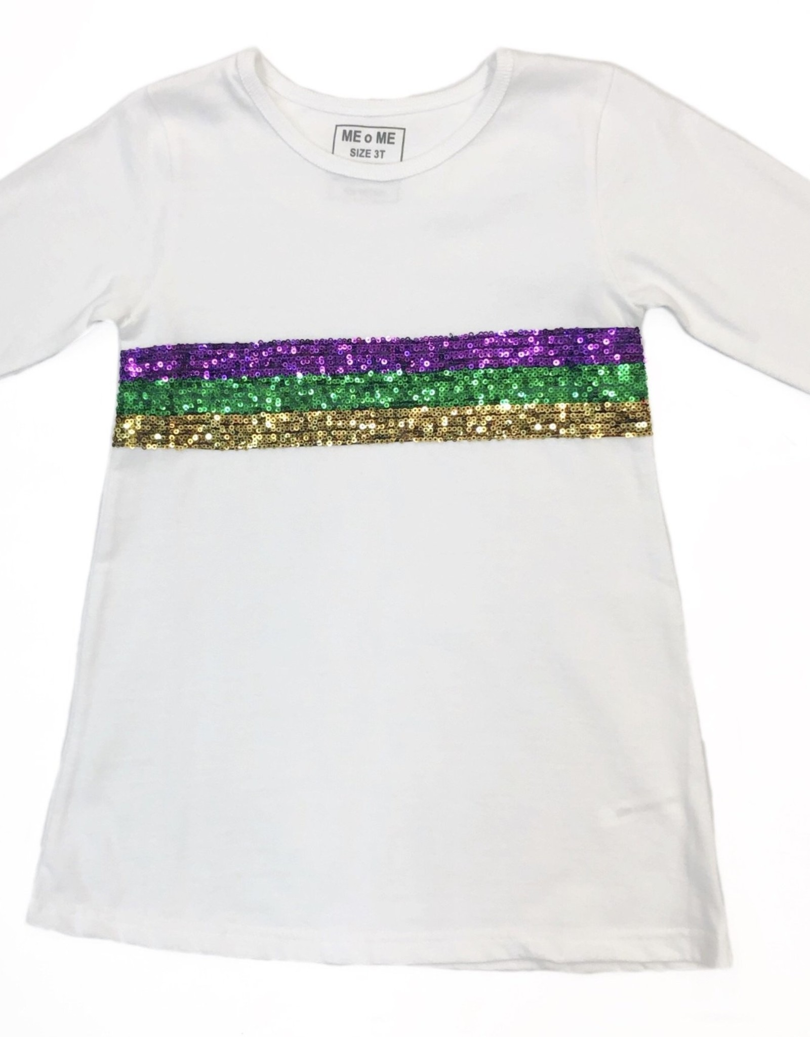 Lulu Bebe LLC Mardi Gras Sequin Crew Neck Dress