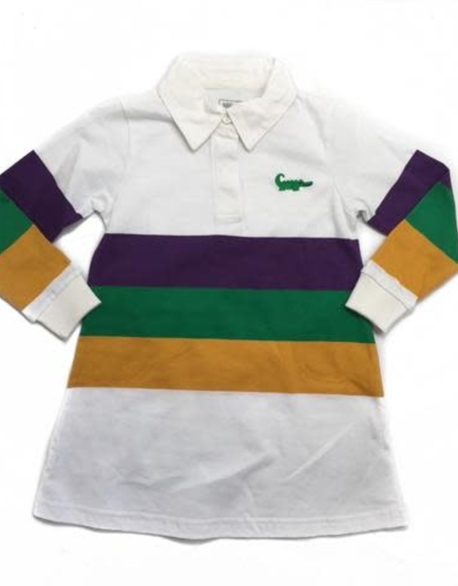 Lulu Bebe LLC Mardi Gras Rugby Dress