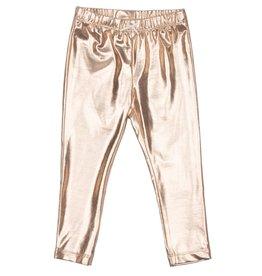 Pink Chicken Gold Lame Leggings