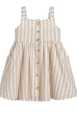 Mayoral Nude Stripped Linen Dress