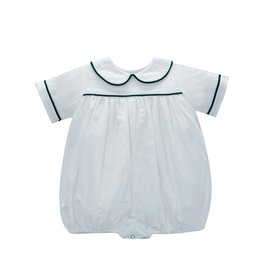 LullabySet Boys White Cord Green Piping Bubble