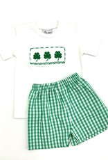 Delaney Boys Smocked Clover Short Set