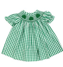 Delaney Girls Gingham Clover Bishop