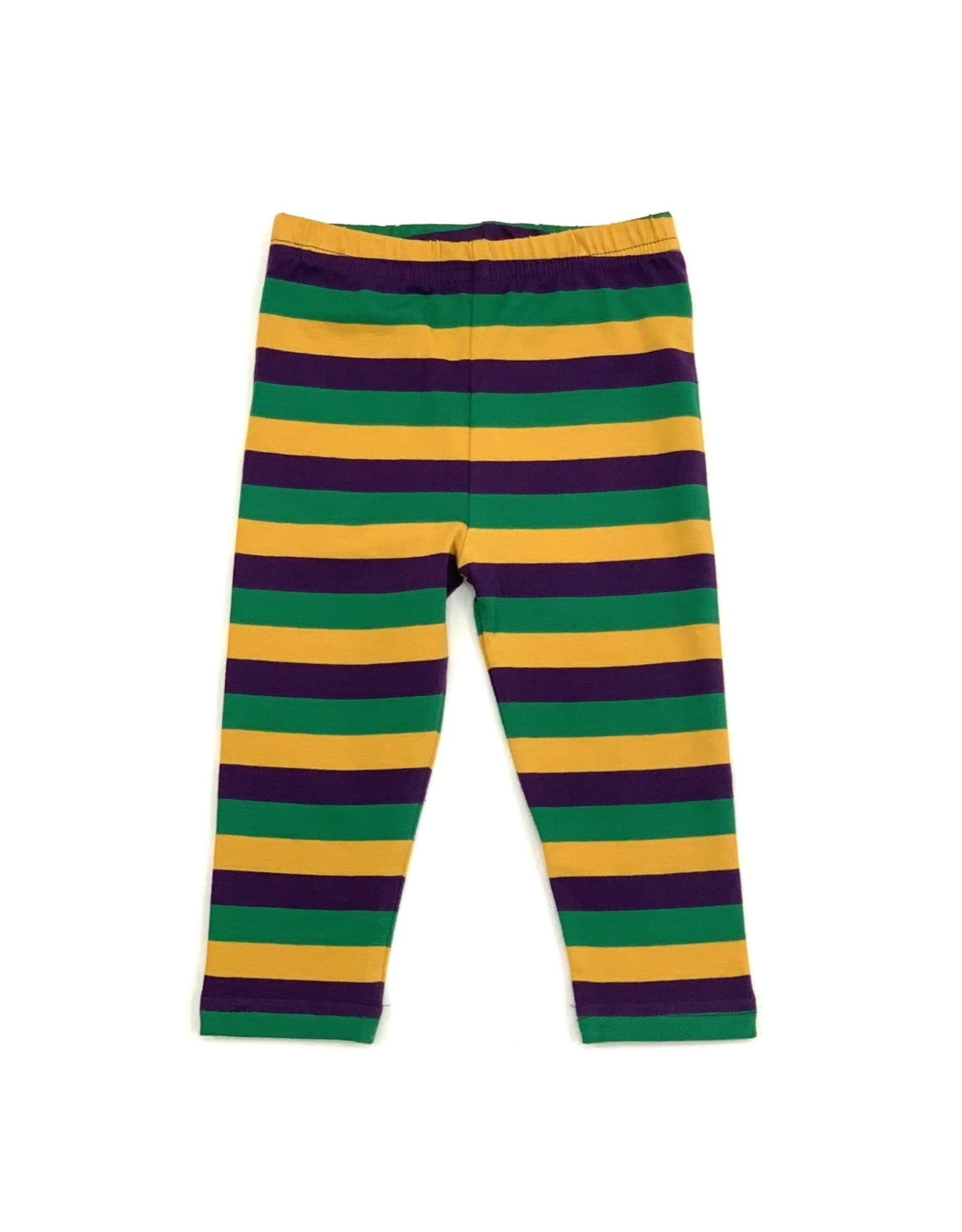 Lulu Bebe LLC Mardi Gras Leggings Stripes