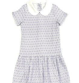 Lila and Hayes Short Sleeve Dress Purple Flower Trio