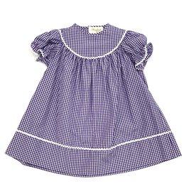 Rosalina Purple Gingham Dress With Ricrac