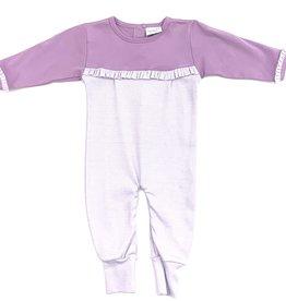 Squiggles Long Sleeve Purple Romper