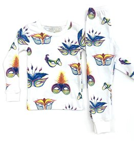 Elle Vee Company Mardi Gras Masks 2 Piece PJ
