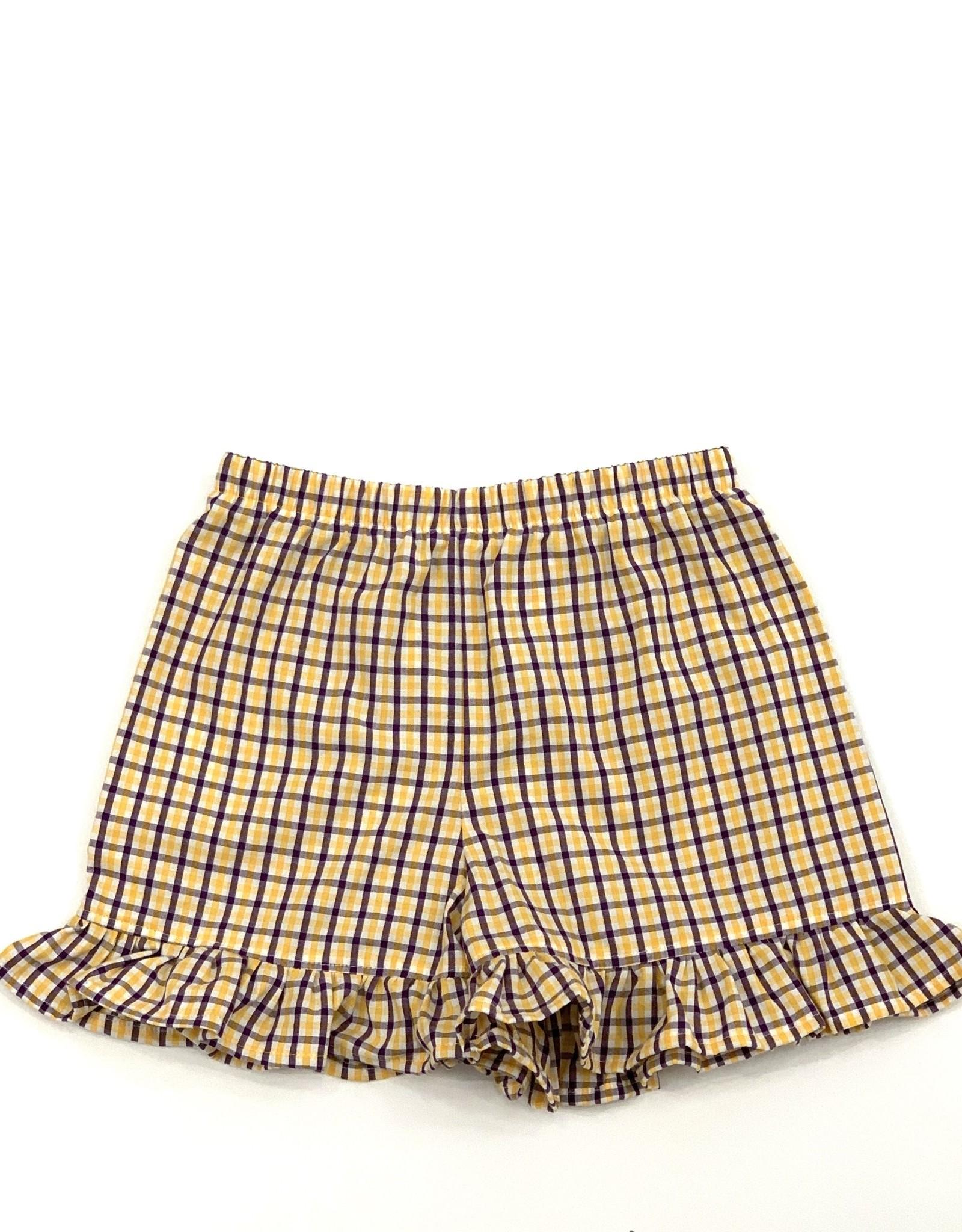 Funstyle Girls Shorts LSU plaid