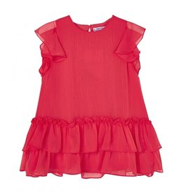 Mayoral Red Ruffled Dress