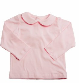 Smiling Button Peter Pan Tee Light Pink