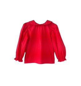 Nantucket Kids Peter Pan Collar Blouse Red