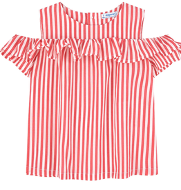 Mayoral Red Stripped Lose Shirt