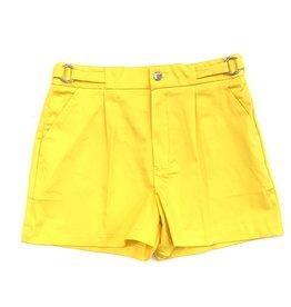 Mayoral Yellow Satin Shorts
