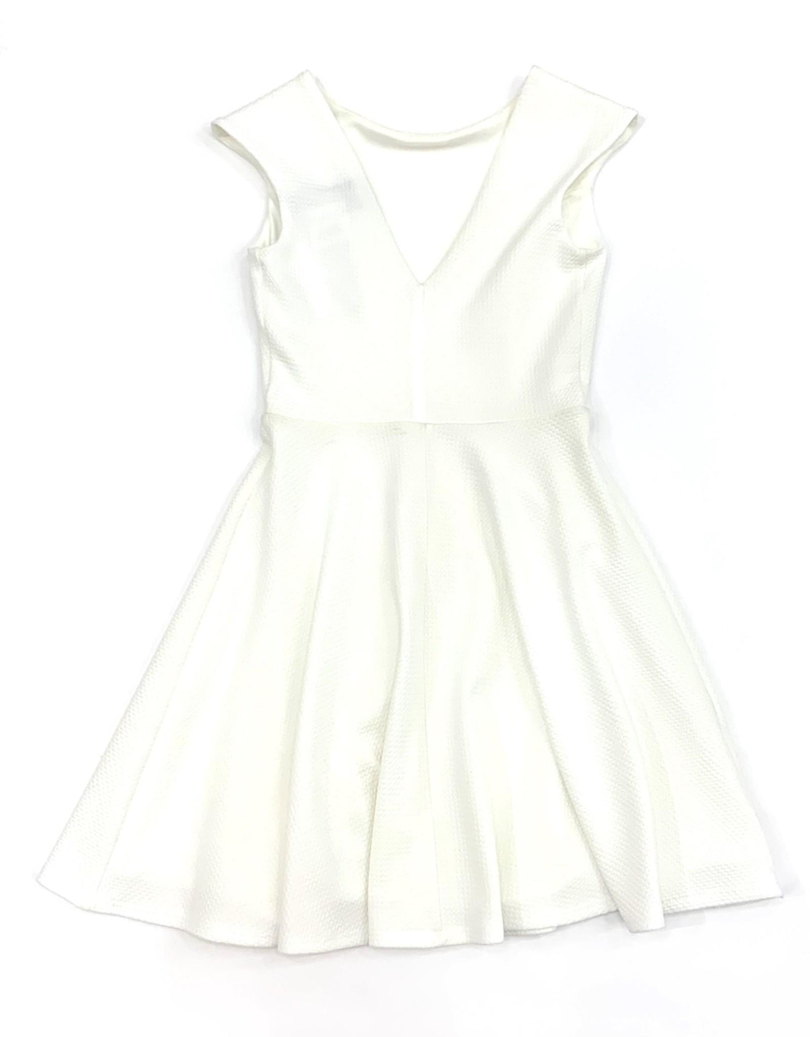 Cap Sleeve Dress with V back