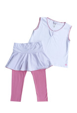 SET Quin Pink Shirt, Skirt, and Legging Set