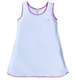 SET Tinsley White Dress with Purple Ric Rac