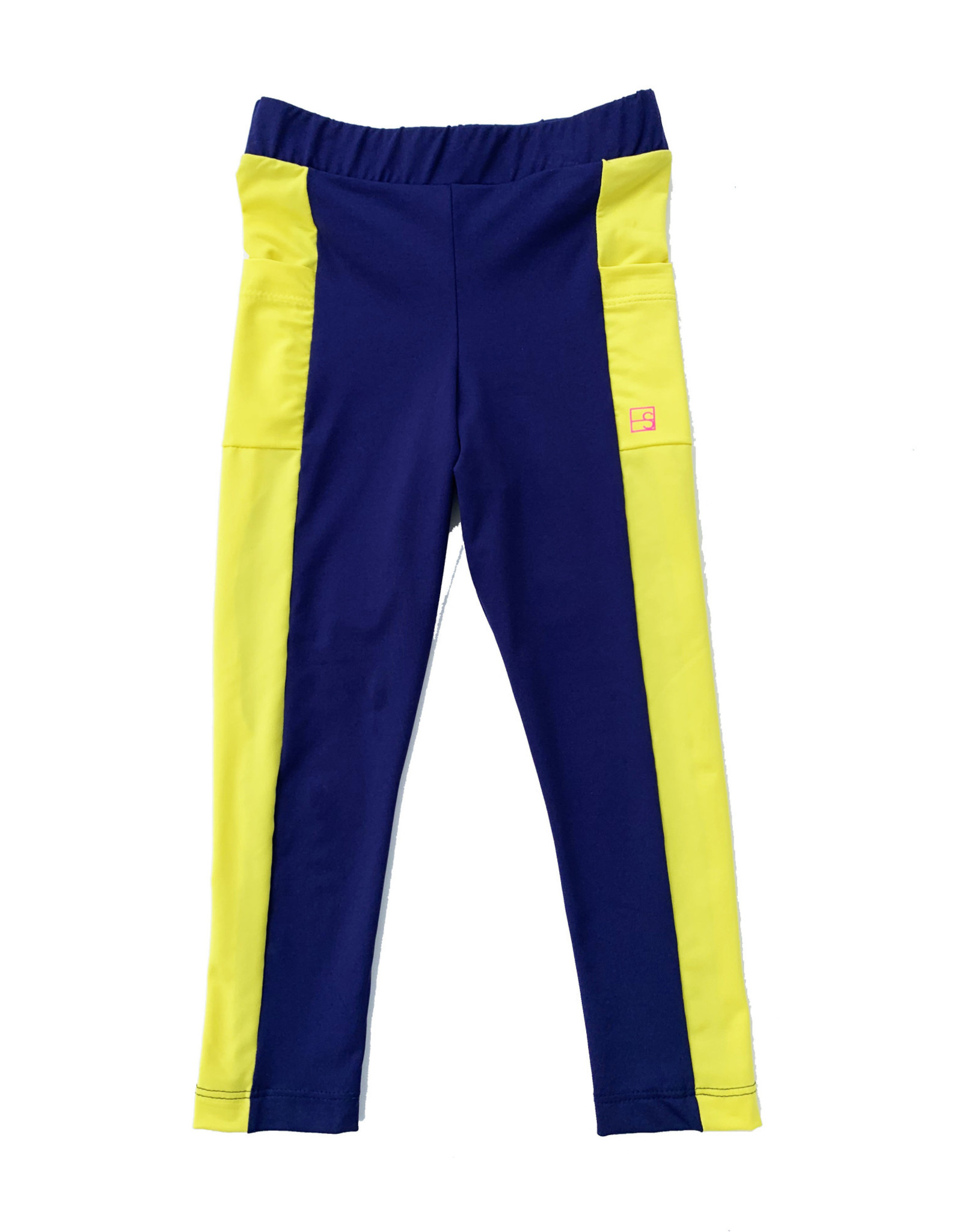 SET Lila Navy Legging with Yellow Accent